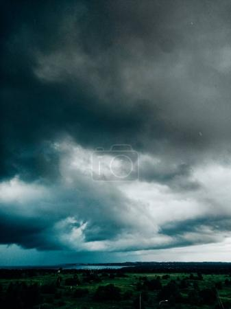 Landscape with sea and stormy clouds