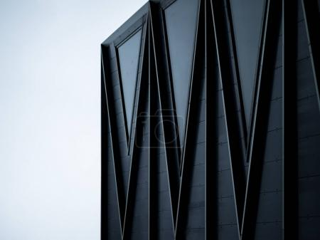 Photo for Detail of black modern building facade - Royalty Free Image