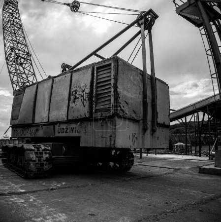 Rusty metal construction crane