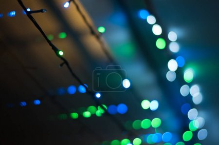 Garland with colorful lights