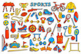 Sticker collection for sports object