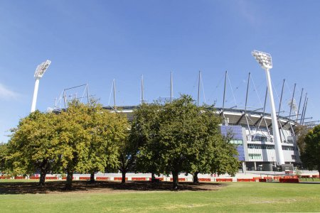 Melbourne, Australia: April 09, 2018: Melbourne Cricket Ground simply known as the MCG has a seating capacity of over 100,000. It is located in Yarra Par