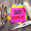 Handwriting Announcement text Baby Boomers. Busine...