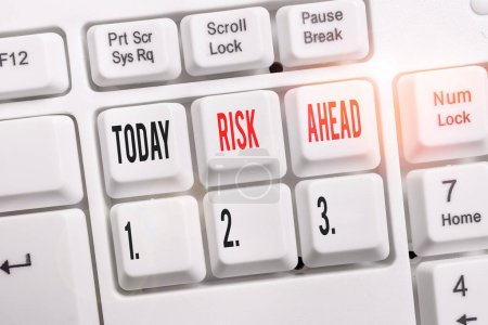 Word writing text Risk Ahead. Business photo showc...