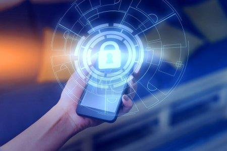 Photo pour Image système photo schéma de réseau technologie moderne dispositif intelligent - image libre de droit