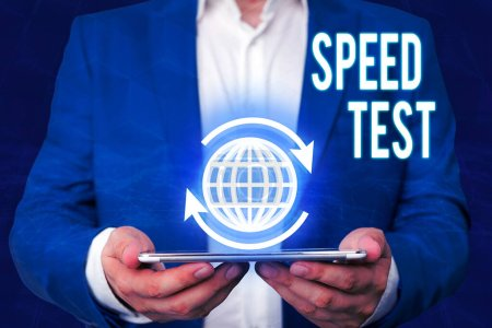 Photo for Word writing text Speed Test. Business photo showcasing psychological test for the maximum speed of performing a task - Royalty Free Image