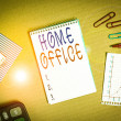 Handwriting text writing Home Office. Conceptual p...