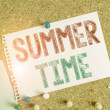 Conceptual hand writing showing Summer Time. Conce...