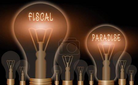 Photo pour Écriture conceptuelle montrant le paradis fiscal. Concept signifiant Le gaspillage de fonds publics est un sujet de grande préoccupation - image libre de droit