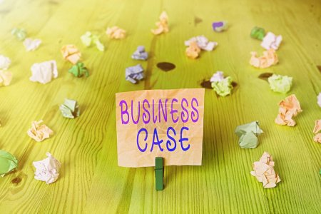 Photo pour Signe texte montrant l'analyse de rentabilisation. Business photo text Proposition Engagement Présentation verbale Nouvelle tâche - image libre de droit