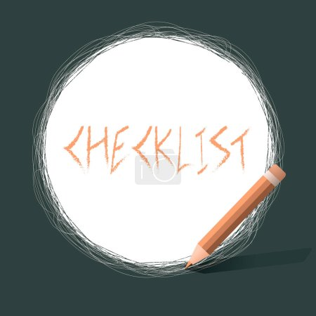 Writing note showing Checklist. Business concept f...