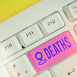 Text sign showing Deaths. Business photo text perm...