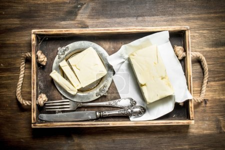 Butter on a tray.