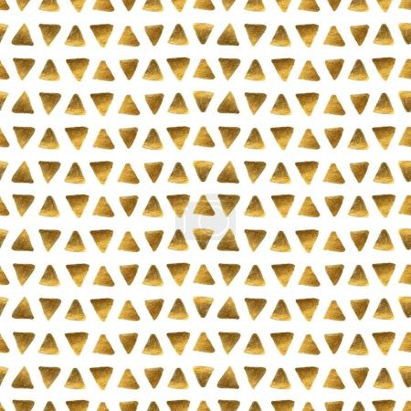 golden triangles on a white background.