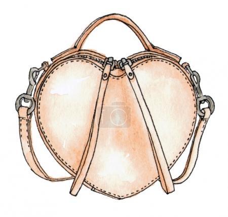 watercolor  heart bag