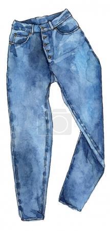 watercolor fashion jeans