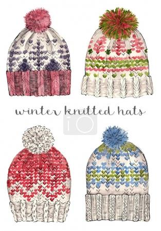 winter knitted hats.