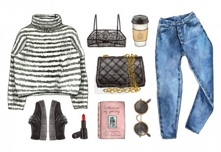 casual style clothes and accessories