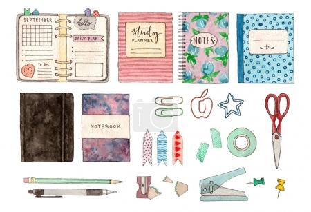 set of stationery and school stuff