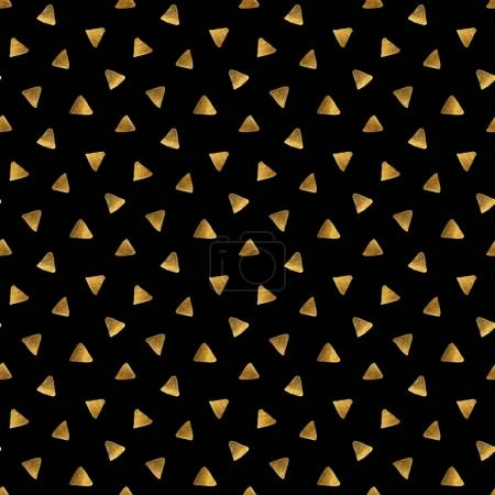 messy golden triangles on a black background.