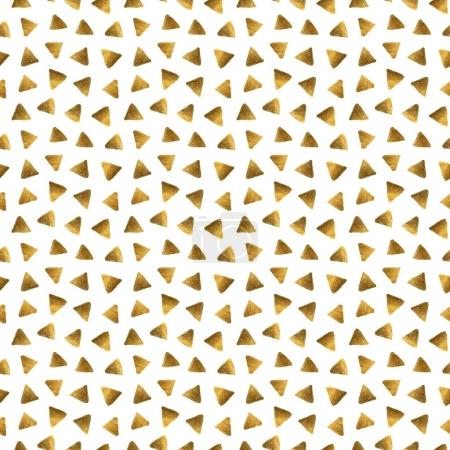 messy golden triangles on a white background.