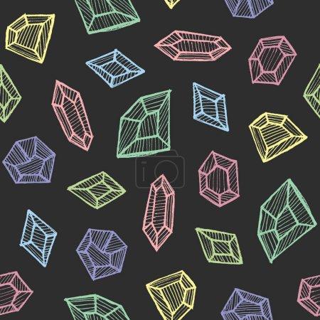 colorful gemstones seamless pattern