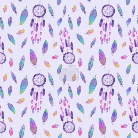dream catcher and feathers pattern