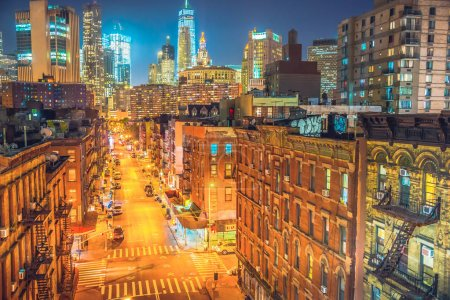 New York City at night, Chinatown
