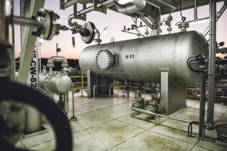 Natural gas processing facility and equipment