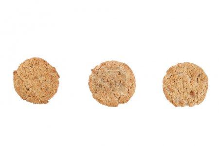 Vegan bakery concept. Integral round hazelnut cookies. Healthy nutritious snacks, good for figure, sugar free, vegetarian diet.