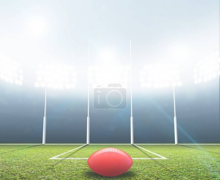 Sports Stadium And Goal Posts