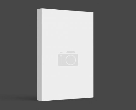 Photo for 3D rendering hardcover book, standing single book mockup isolated on dark background - Royalty Free Image