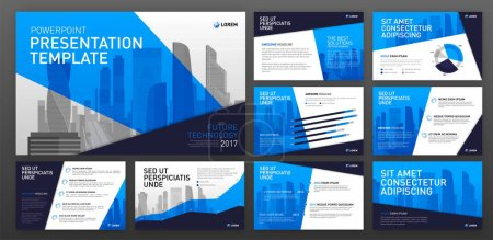 Illustration for Business presentation templates. Use for ppt layout, presentation background, brochure design, website slider, corporate report. - Royalty Free Image