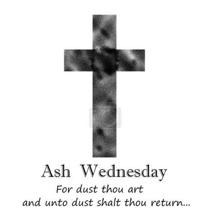 ceniza en blanco y negro icono del miércoles que nos recuerda de dónde somos