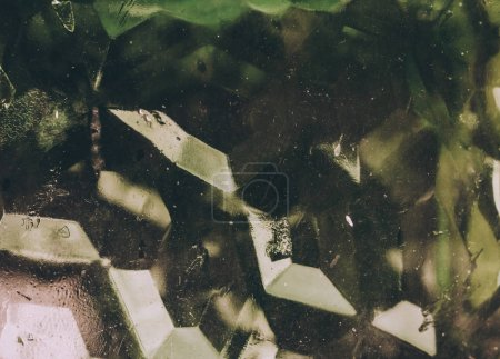 Texture patterns on the glass,green glass,background image
