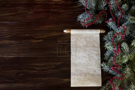 Classic Christmas background for greeting card