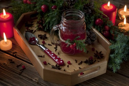 jam with Fresh red forest berries