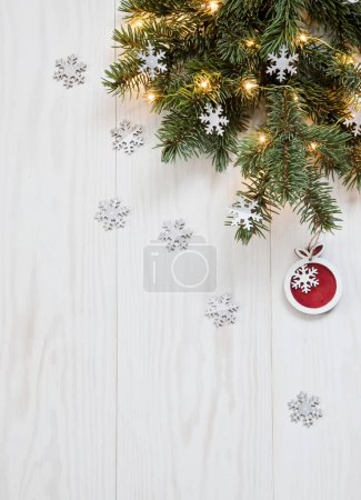 Christmas branch with festive decor
