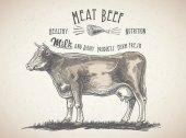 fresh beef meat logo
