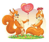 cute squirrel characters