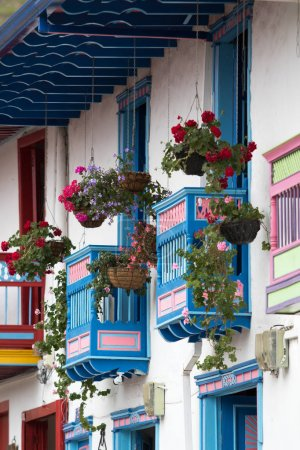colourful Colombian architecture