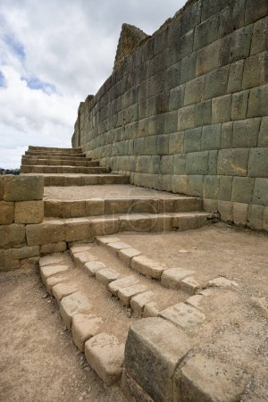 the Ingapirca inca ruins of Ecuador
