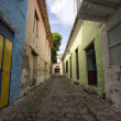Постер, плакат: Narow cobblestone alley in Honda Colombia