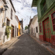 Постер, плакат: Narrow colonial street in Honda Colombia
