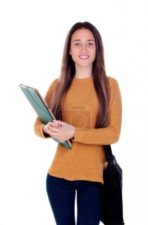 Teenager student girl