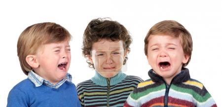 three Children crying