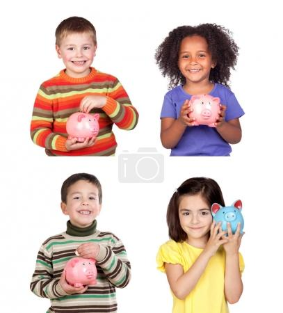 Children piggy banks