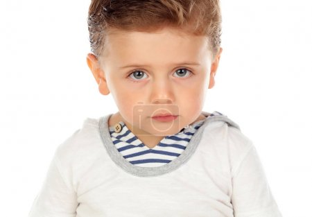 Baby with serious expression