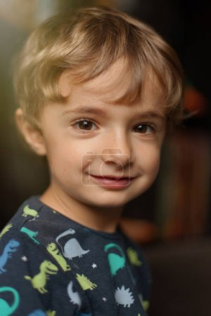 Photo for Portrait of funny child at home smiling - Royalty Free Image