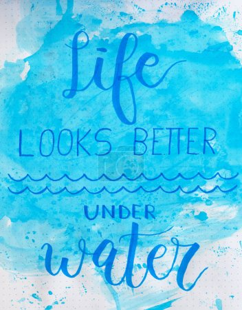 life looks better under water poster